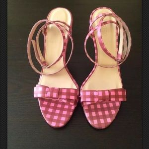 J. crew  gingham bow sandals size 9 $250